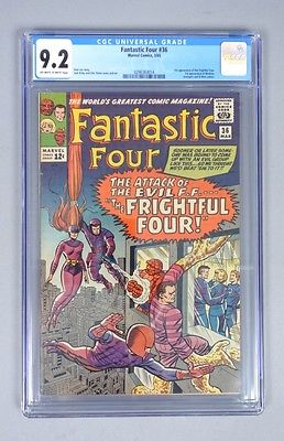 Vintage 1965 Marvel Comics Fantastic Four 36 CGC Graded 92 Silver Age Comic