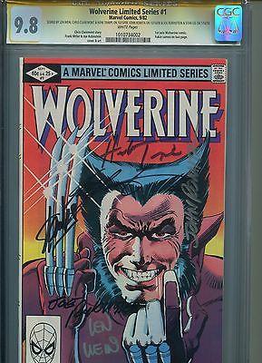 Wolverine 1 CGC SS 98 Sigs 6x Romita Sr Lee Claremont Rubinstein Trimpe XMen