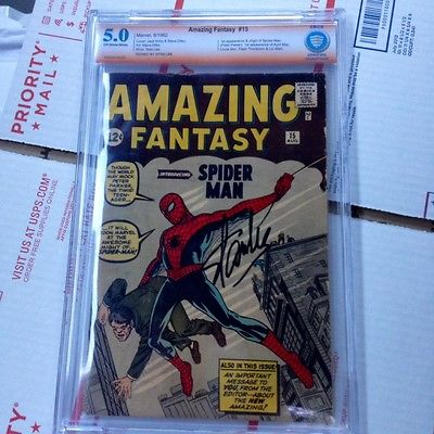 Amazing Fantasy 15 cbcs 50 unrestored not cgc