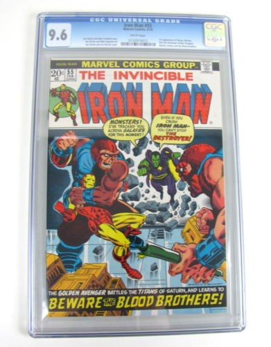 1973 MARVEL THE INVINCIBLE IRON MAN 55 CGC GRADED 96 1ST APPEARANCE THANOS