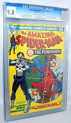 1974 THE AMAZING SPIDERMAN 129 CGC 98 NMMT 1ST APPEARANCE PUNISHER OWW PGS