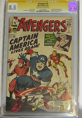 Avengers 4 CGC 85 Signed by Stan Lee