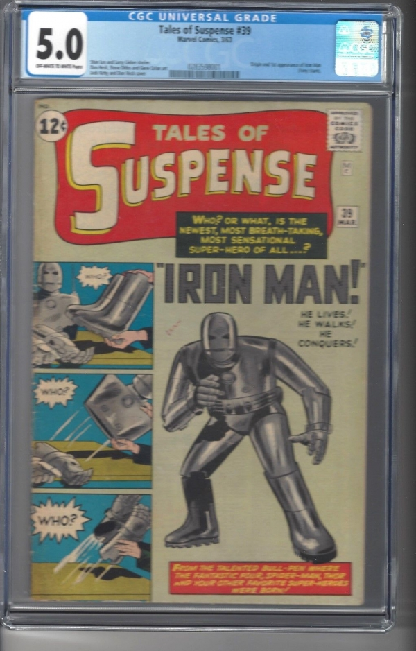 Tales of Suspense  39     CGC Graded 50    Origin and 1st App of Iron Man