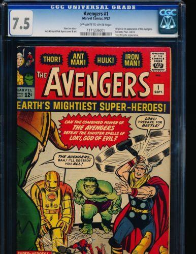 Avengers  1 CGC 75 OWWHITE Pgs