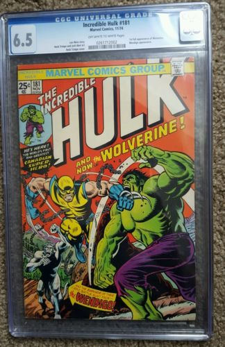 Incredible Hulk 181 CGC 65 1st Wolverine Great looking comic