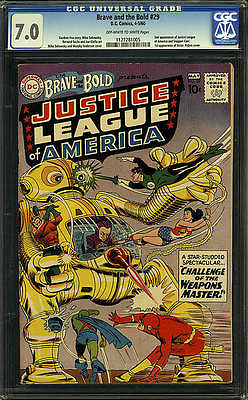 Brave and the Bold 29 CGC 70 DC 1960 2nd Justice League C6 115 1 cm