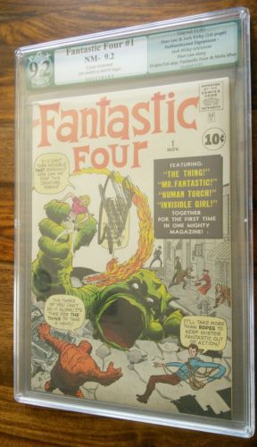 Fantastic Four 1 1961 PGX 92 Like CGC Signed by Stan Lee and Jack Kirby