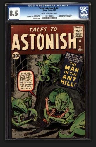 Tales to Astonish 27  CGC85  VF 1st AntMan Marvel 1962 Very Rare Grade