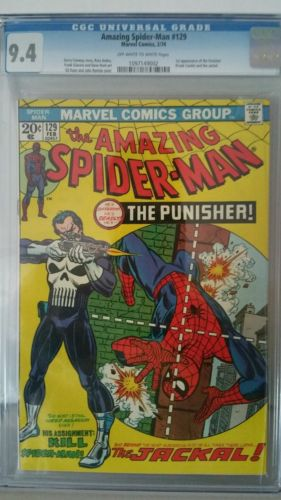 Amazing Spiderman  129 CGC 94 oww pages