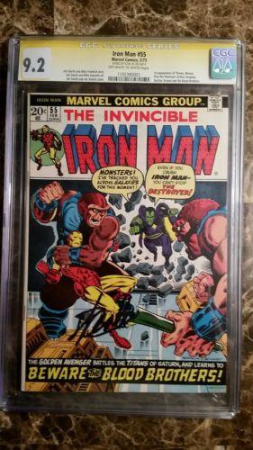 Iron Man 55 Feb 1973 Marvel CGC 92 SIGNATURE SERIES STAN LEE NO RESERVE