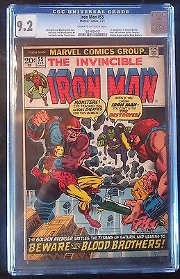 Marvel Iron Man 55 CGC 92 First Appearance of Thanos Infinity War Movie 2016