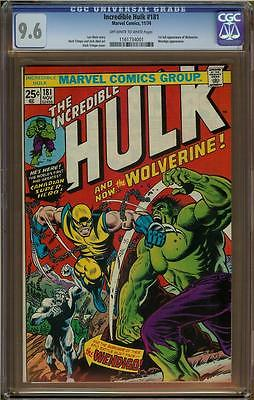 Incredible Hulk 181 CGC 96 1st Full Appearance of Wolverine