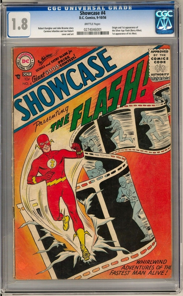 Showcase 4 CGC 18 B Origin  1st Appearance of Silver Age Flash Barry Allen