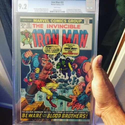 Iron Man 1973 55 Cgc 92 With White Pages 1st Appearance Of Thanos