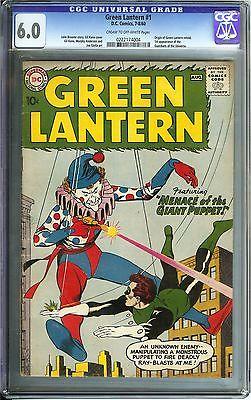 Green Lantern 1 CGC 60 DC 1960 Origin Movie slated 2020 Guardians Universe App
