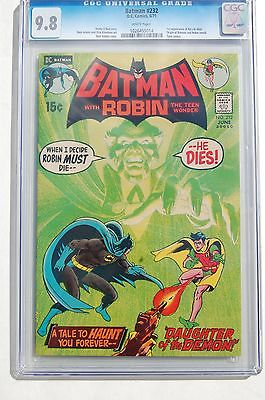 Batman 232 CGC 98 RARE WHITE Pages 1st Ras Al Ghul Highest Graded Copy