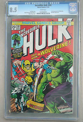 The Incredible Hulk 181 Nov 1974 Marvel CGC 85 White pages 1st full Wolverine