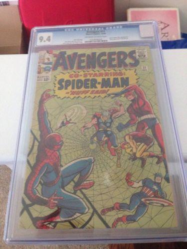 Avengers  11 Cgc 94 Spiderman Capt America Civi Iron Man Thor