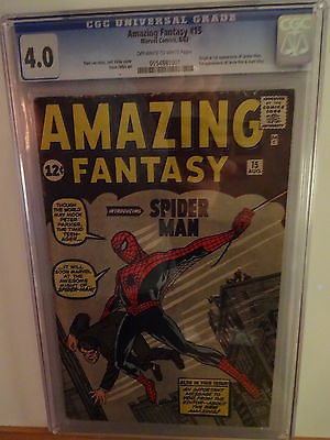 Amazing Fantasy 15 CGC 40  Blue Label