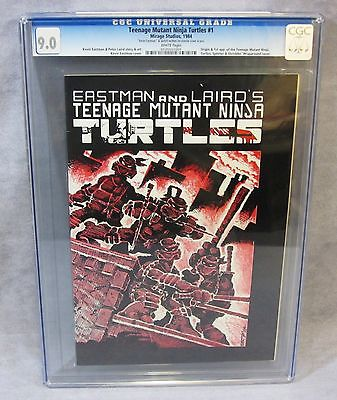 TEENAGE MUTANT NINJA TURTLES 1 First Print CGC 90 Mirage Studios 1984 TMNT