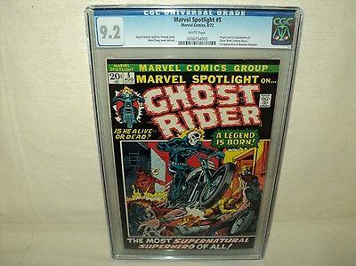 Marvel Spotlight 5 CGC 92 White p Origin1st app Ghost Rider 1972 c04955