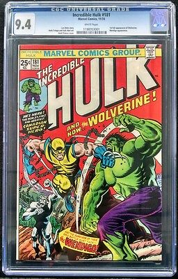 INCREDIBLE HULK 181 CGC GRADED 94 WHITE PAGES 1ST APPEARANCE WOLVERINE