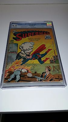 Superman 8 JanFeb 1941 DC CGC 65 Unrestored Only 106 graded SUPER RARE