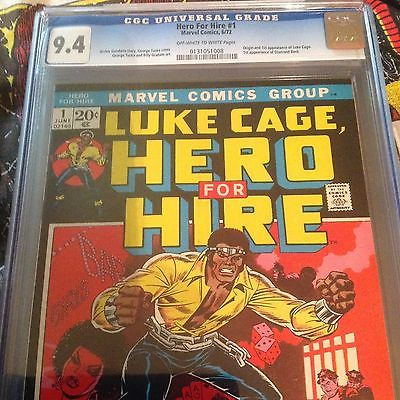 HERO FOR HIRE 1 CGC 94 1972 1ST EVER LUKE CAGE  KEY issue NEW NETFLIX SERIES
