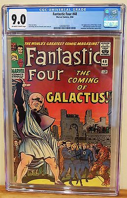 FANTASTIC FOUR 48  CGC 90 1st App of Silver Surfer  Galactus RED HOT KEY