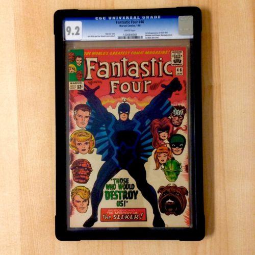 Fantastic Four 46 1966 1st appearance BLACK BOLT Inhumans CGC 92 WHITE pg NM