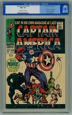 CAPTAIN AMERICA 100 CGC 96 NM FIRST ISSUE OLD LABEL 1968