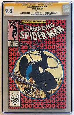 The Amazing SpiderMan 300 CGC SS 98 Signed by Stan Lee  1st Venom 1988