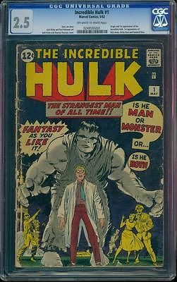 Incredible Hulk 1 CGC 25 OWW No Reserve Auction Silver Key Marvel Comic LK