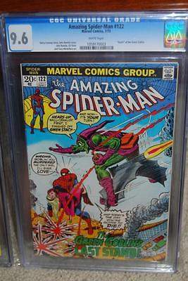 Amazing Spiderman 122 CGC 96 1973 WHITE pages Green Goblin Death D7 153 1 cm