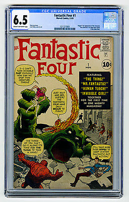 Fantastic Four 1 CGC 65 KEY Origin Kirby Lee Marvel Silver Comic