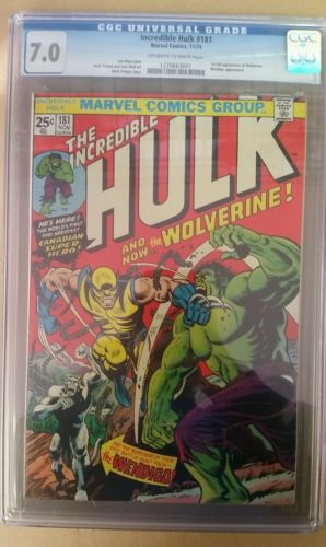 The Incredible Hulk 181 Nov 1974 Marvel CGC 70 1st appearance of Wolverine
