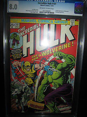 INCREDIBLE HULK 181 CGC 80 OFFWHITE TO WHITE PAGES 1ST APPEARANCE WOLVERINE