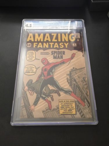 Amazing Fantasy 15 CGC 45 CreamOw Pages 1st SpiderMan Movie Rare AF15 Marvel