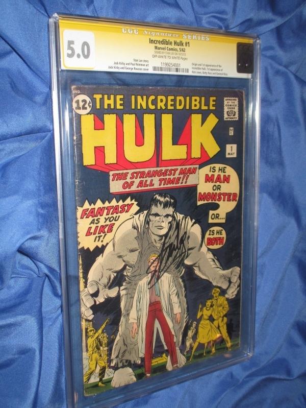 THE INCREDIBLE HULK 1 CGC 50 SS SignedAutograph by Stan Lee OriginAvengers