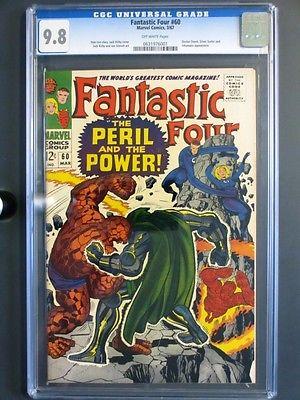 Fantastic Four 60 MARVEL 1967 MINT CGC 98 NMMT HIGHEST GRADE Doctor Doom