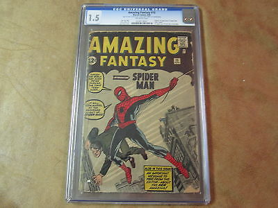 AMAZING FANTASY 15 CGC 15 1962 Origin  1st Appearance SpiderMan