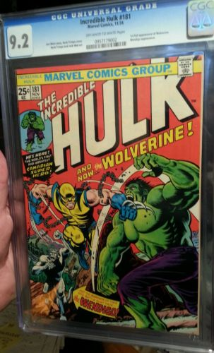 Incredible Hulk 181 CGC 92 OWW Pages Key 1st full appearance of Wolverine