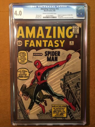 Amazing Fantasy 15 Marvel 1962 CGC 40 VG 1st App SpiderMan