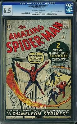 The Amazing SpiderMan 1 CGC 65 OWW ORIGIN 1ST CHAMELEON FANTASTIC FOUR