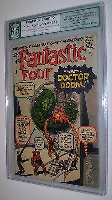 Fantastic Four 5 PGX 85 Signature series like CGC OWW 1962 1st Dr Doom