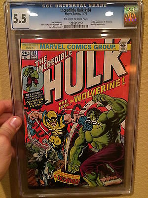 Hulk 181 CGC 55 1st Wolverine