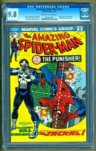 Amazing SpiderMan 129 1974 Marvel 1st appearance of Punisher Jackal CGC 98
