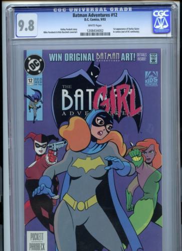 Batman Adventures 12 1993 DC CGC 98 White Pages 1st Harley Quinn