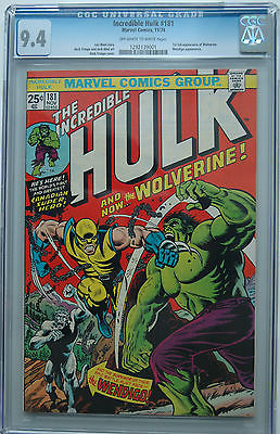 The Incredible Hulk 181 Nov 1974 Marvel CGC Graded 94 OffWhite to White