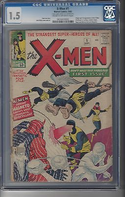 XMen  1   CGC  15    Origin and 1st App of XMen     Jack Kirby Cover and Art